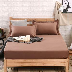 (Entrepôt UE) Simple élégante Protège matelas solide Couvre-lits en coton matelas protecteur150*200cm