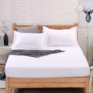 (Entrepôt UE) Simple élégante Protège matelas solide Couvre-lits en coton matelas protecteur180*200cm