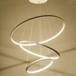 Lustre LED SMD 1*90W D80cm en métal acrylique suspension pour salon salle à manger