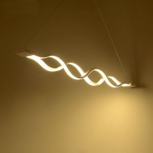 Lustre en métal et acrylique LED 25W L 100 cm pour salle bureau