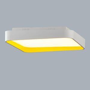 (Entrepôt UE) Moderne Simple métal+plastique+acrylique processus de cuisson LED--1*96W Lustre deux couleurs de lumière(blanc+Blanc chaud)Sans télécommande