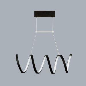 Lustre LED 30W en métal L 60 cm pour salle salon moderne