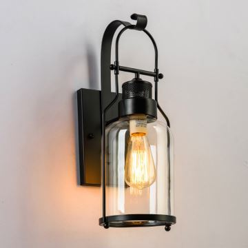 applique murale h32cm vintage industriel lampe pour salon. Black Bedroom Furniture Sets. Home Design Ideas