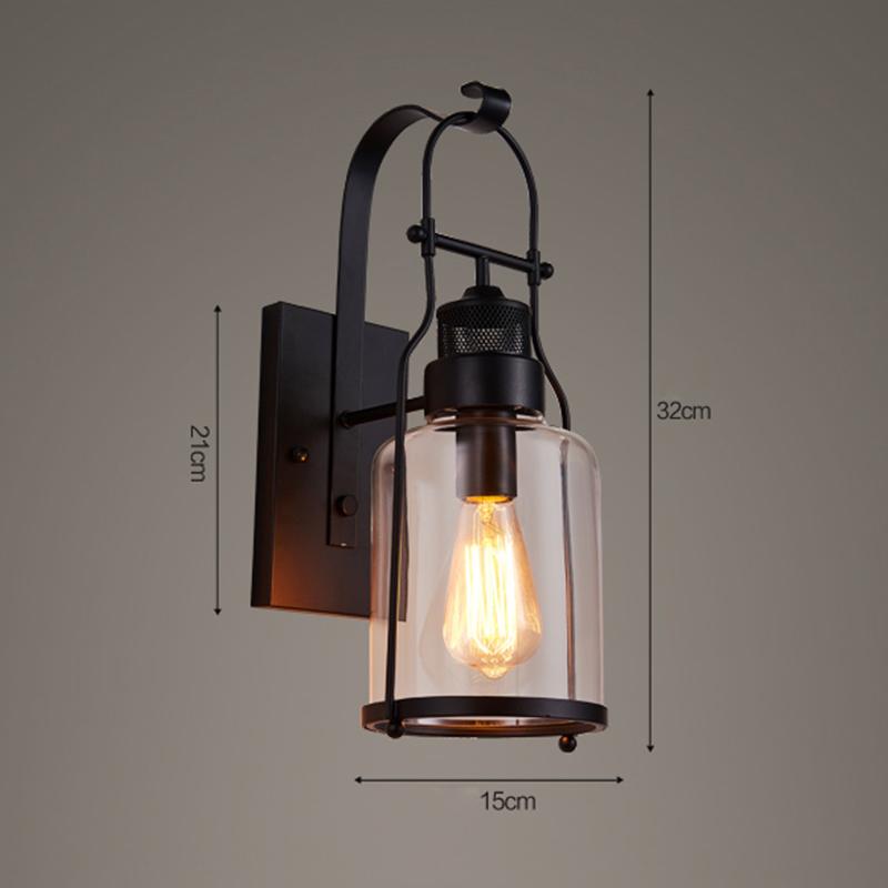 Livraison gratuite applique murale H32cm vintage industriel lampe ...