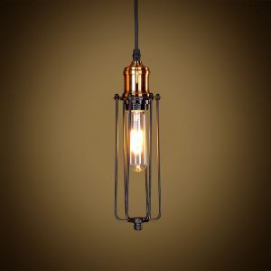 (Entrepôt UE) Suspension style américain campagne industriel rétro rustique en fer lampe