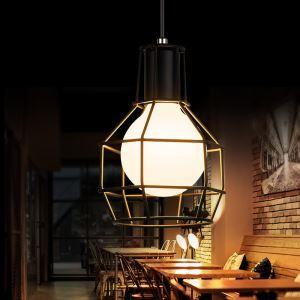 Suspension en fer noir corde pour chambre style américain campagne industriel rétro rustique