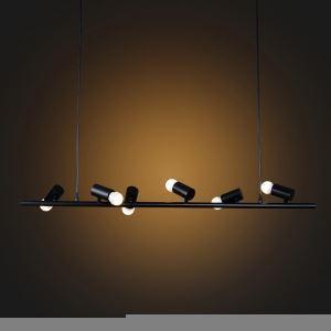 (Entrepôt UE) Suspension design lustre style américain campagne industriel rétro rustique en fer