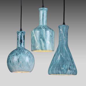 Style américain campagne industriel rétro rustique Matériel Fer créatif céramique abat-jour suspension 3 modèles