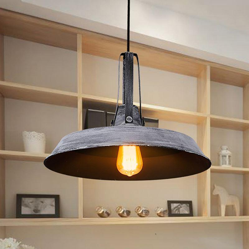 entrep t ue suspension 1 lampe en fer pour cuisine couloir style am ricain campagne industriel. Black Bedroom Furniture Sets. Home Design Ideas