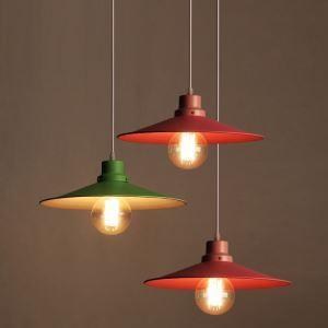 Style américain campagne industriel rétro rustique Matériel Fer personnalité parapluie coloré suspension 2 modèles