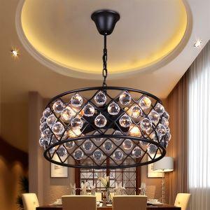 (Entrepôt UE) Suspension style américain campagne industriel rétro rustique en fer cristal