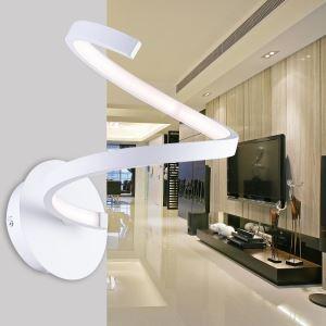 Moderne simple fer + aluminium + acrylique Blanc LED applique murale