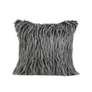 Oreiller carré coussin Luxe Imitation fourrure poil de lapin Canapé de maison Linge de lit