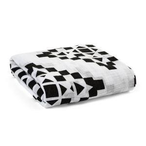 (Entrepôt UE) homelava conception indépendante, bébé sacs en coton noir et blanc serviette géométrie Motif 120*120cm