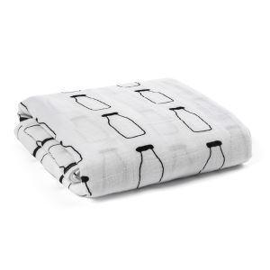 (Entrepôt UE) homelava conception indépendante, bébé sacs en coton noir et blanc serviette bouteille de lait Motif 120*120cm