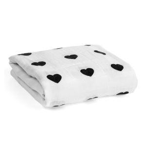 (Entrepôt UE) homelava conception indépendante, bébé sacs en coton noir et blanc serviette amour Motif 120*120cm