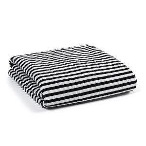 (Entrepôt UE) homelava conception indépendante, bébé sacs en coton noir et blanc serviette rayure Motif 120*120cm