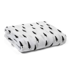 (Entrepôt UE) homelava conception indépendante, bébé sacs en coton noir et blanc serviette arbre de Noël Motif 120*120cm