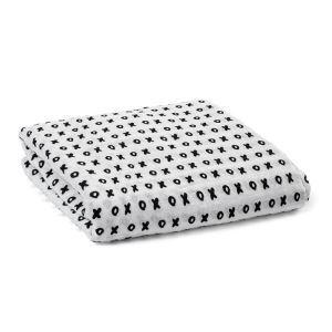 (Entrepôt UE) homelava conception indépendante, bébé sacs en coton noir et blanc serviette XO lettres Motif 120*120cm
