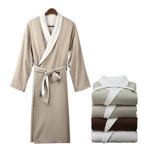 (Entrepôt UE) Hôtel haut de gamme peignoir chemise de nuit hommes automne et en hiver à double épaisseur