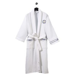 (Entrepôt UE) Printemps peignoir pyjama et d'été amoureux Mme mâles de l'hôtel Superior gaufre perméabilité à l'eau