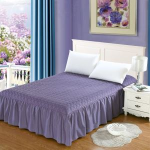 Jupe de lit matelassé Violet 180*200 cm literie minimaliste moderne