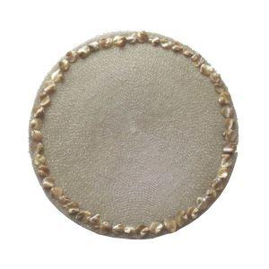 (Entrepôt UE)Set de table perlés à la main Coquilles perles de verre blanc Brodé napperon