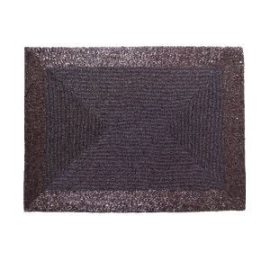 (Entrepôt UE)Set de table perlés à la main Perles de verre violet Haut de gamme de luxe napperon rectangulaire