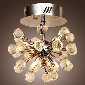 (Entrepôt UE) K9 Lustre en cristal avec 6 lumières en forme de Globe