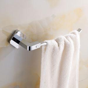 (Entrepôt UE) Style moderne simple Accessoires de salle de bain en cuivre Anneau de serviette Chrome