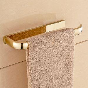 (Entrepôt UE) Style moderne simple Accessoires de salle de bain en cuivre Anneau de serviette d'or