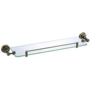 (Entrepôt UE) Style européen Accessoires de salle de bain en cuivre rétro Simple étagère en verre