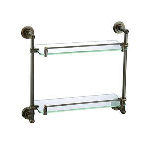 Style européen Accessoires de salle de bain en cuivre rétro Etagère à double couches