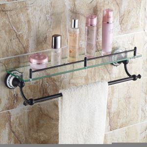 Etagère en cuivre rétro pour salle de bain