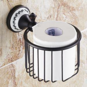 (Entrepôt UE) Style européen Accessoires de salle de bain en cuivre rétro Porte-papier