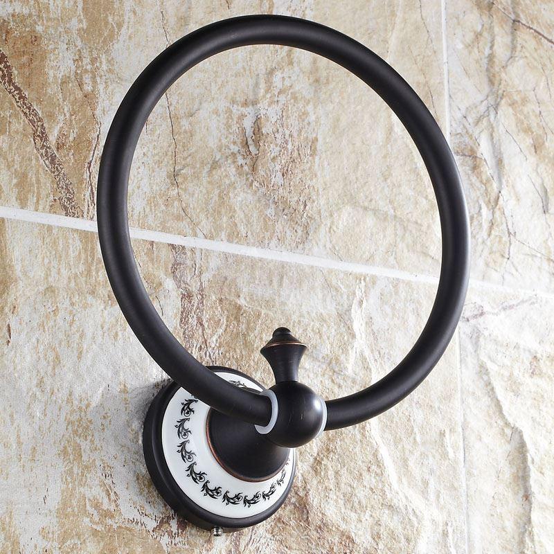 Anneau porte serviette en cuivre r tro d 18 2 cm for Accessoire salle de bain cuivre