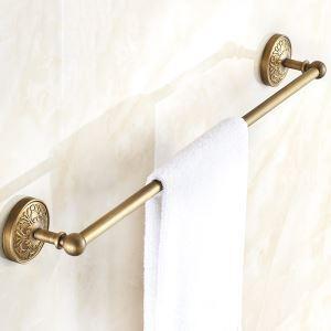 (Entrepôt UE) Style européen rétro Accessoires de salle de bain en cuivre porte-serviettes unique