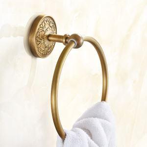 Style européen rétro Accessoires de salle de bain en cuivre anneau porte-serviettes