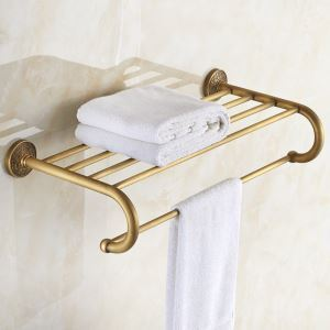 Style européen rétro Accessoires de salle de bain en cuivre Porte-serviettes