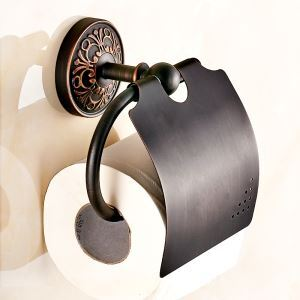 (Entrepôt UE) Style européen rétro Accessoires de salle de bain en cuivre Porte-papier