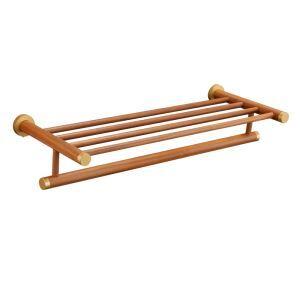 (Entrepôt UE) Style européen simple Accessoires de salle de bain en bois Porte-serviettes