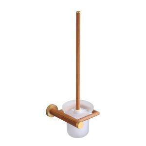 (Entrepôt UE) Style européen simple Accessoires de salle de bain en bois support de brosse de toilette