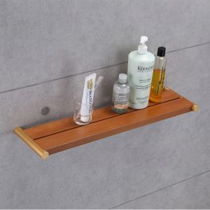 (Entrepôt UE) Style européen simple Accessoires de salle de bain en bois Etagères