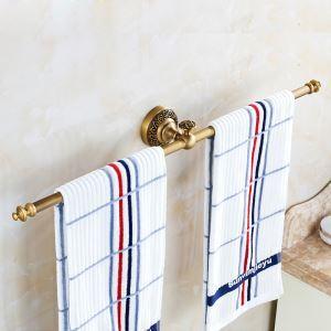 (Entrepôt UE) Style européen rétro accessoires salle de bain en cuivre barre-serviette