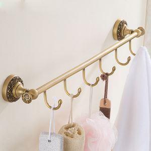 (Entrepôt UE) Style européen rétro accessoires salle de bain en cuivre Vêtements crochet en range