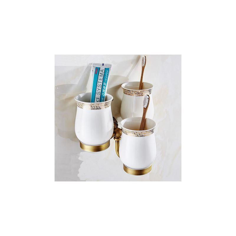 Bain porte brosses dents entrep t ue style for Accessoire salle de bain retro