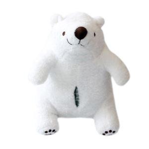 Mignon petit ours polaire Oreiller pompage des ensembles de jouets poupée de tissu