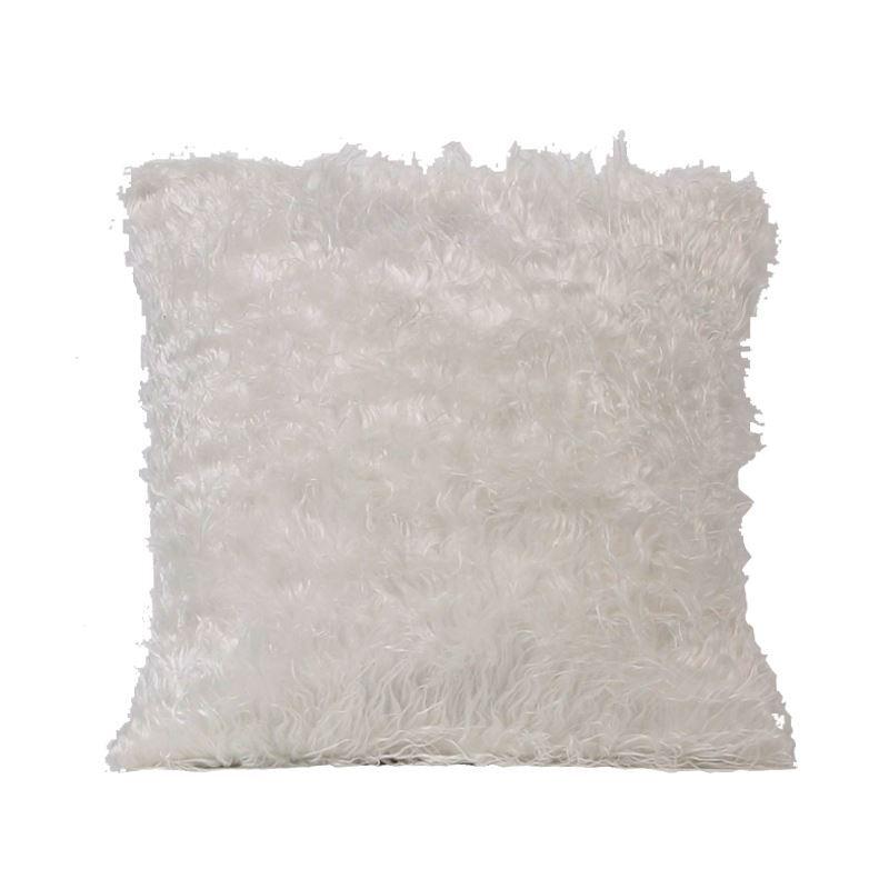taie de coussin oreiller imitation fourrure oreiller en blanc. Black Bedroom Furniture Sets. Home Design Ideas