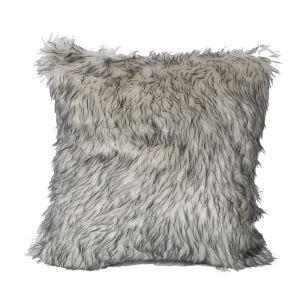 Minimaliste européen imitation fourrure oreiller en gris clair