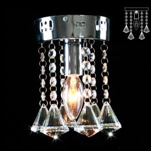 (Entrepôt UE) Livraison gratuite pas cher mini Moderne chromé cristal plafonnier K9 cristal Forme de diamant boule de cristal pour l'entrée salon chambre à coucher
